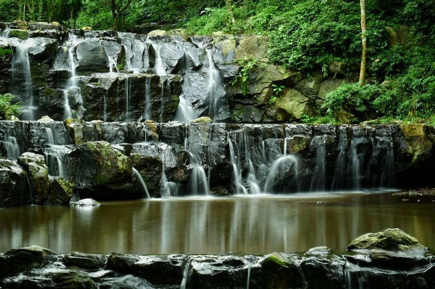 Beauty In Nature Motion Water Waterfall Long Exposure No People Rock - Object Nature Outdoors Beauty In Nature Scenics Day Tree Waterfront Tree Green Color