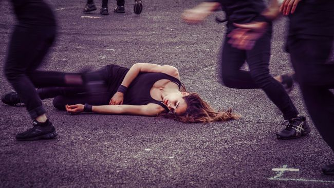 Fragile - by Motion House. Performed at the 2015 Merchant City Festival. The Portraitist - 20I6 EyeEm Awards Collapse Dance Dance,d Dancer Dramatic Drmartens Fallen Ground People Portrait Sprawled Street Woman Natural Light Portrait Colour Of Life
