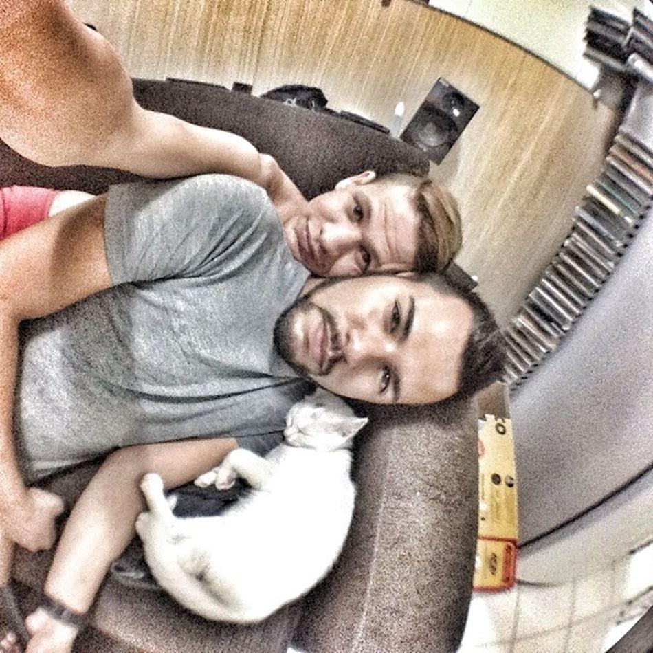 Selfie em Família ! @railonf e Evalima Demoroenoix ❤️ 4evertt