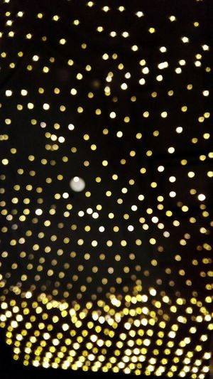 Out Of Focus Ceiling Lights or Night Sky Abstract I See Funky Dots