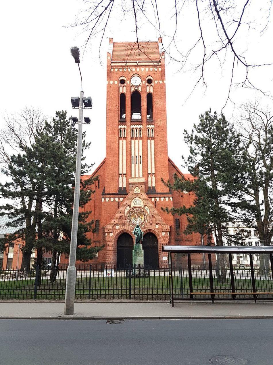 Bydgoszcz Poland Religion Built Structure Architecture Building Exterior No People Outdoors Day Sky Architecture Polandarchitecture Street Church Clock Clock Tower