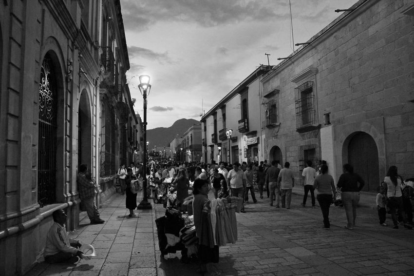 La calle Architecture Building Exterior City Street Large Group Of People Lifestyles Men Old Town Outdoors Person Street Walking