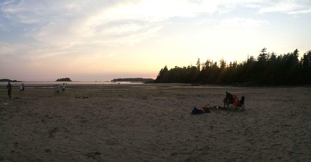 Campfire Beach Sunset Great night to end a great day.