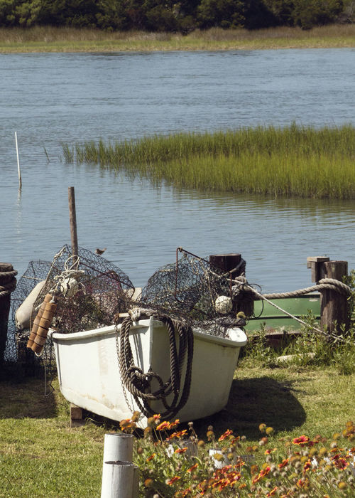 Lets go fishing Day Fishnets Grass Nature No People Outdoors Small Fishing Boats Smallboat Waterway