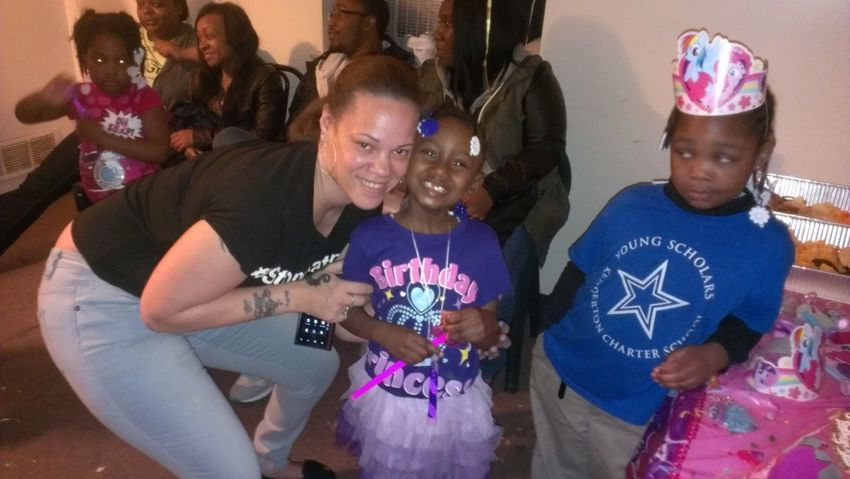 my baby girls and her aunt, with her friend on the side hating(lol).