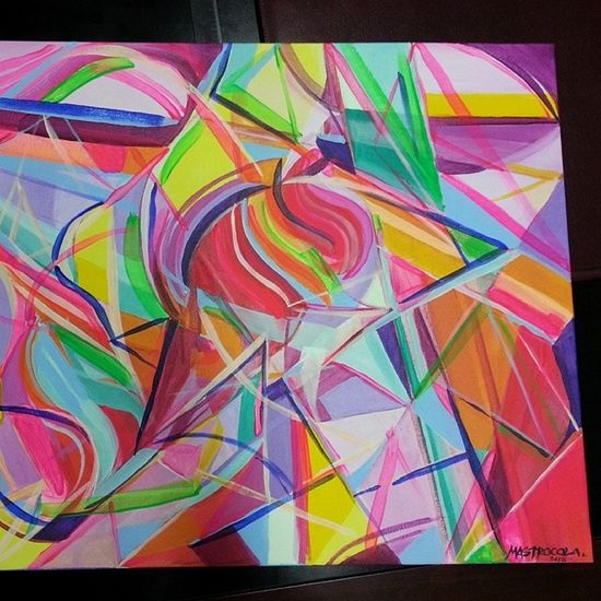 This canvas found a new home in Miami! Mastrocola Acrylic Abstract Colorlove