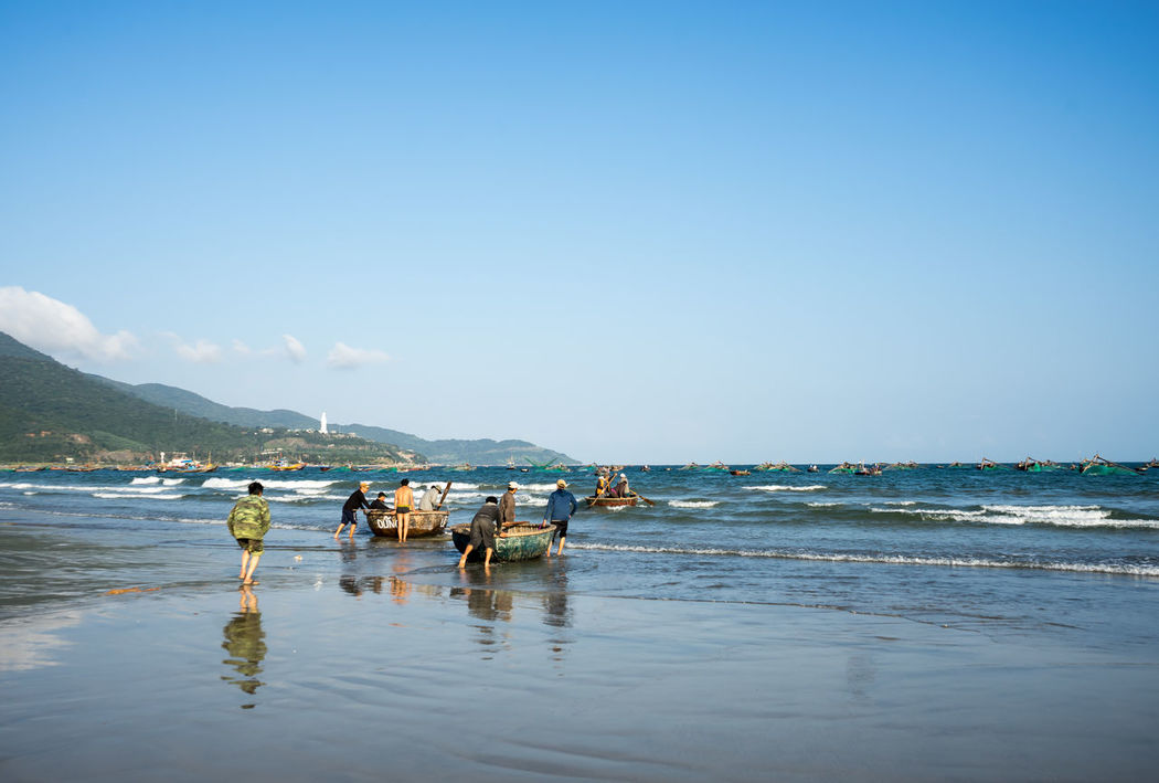 Asia, Vietnam, Travel Beach Coastline Distant Horizon Over Water Ocean Outdoors Sand Scenics Sea Seascape Shore Tranquil Scene Tranquility Trip Vacation Vacations Vietnam Water Wave Weekend Activities Landscapes With WhiteWall Here Belongs To Me