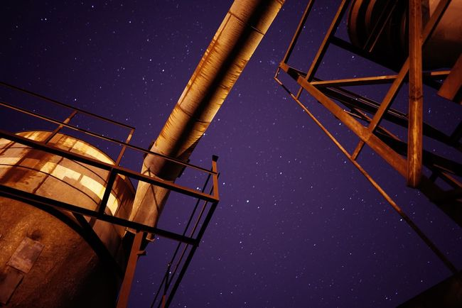 Overnight Success Sky Night Nightphotography Stars Rural Scene Refinery Plant Factory Industrial Industry Urbex Abandoned Arkansas