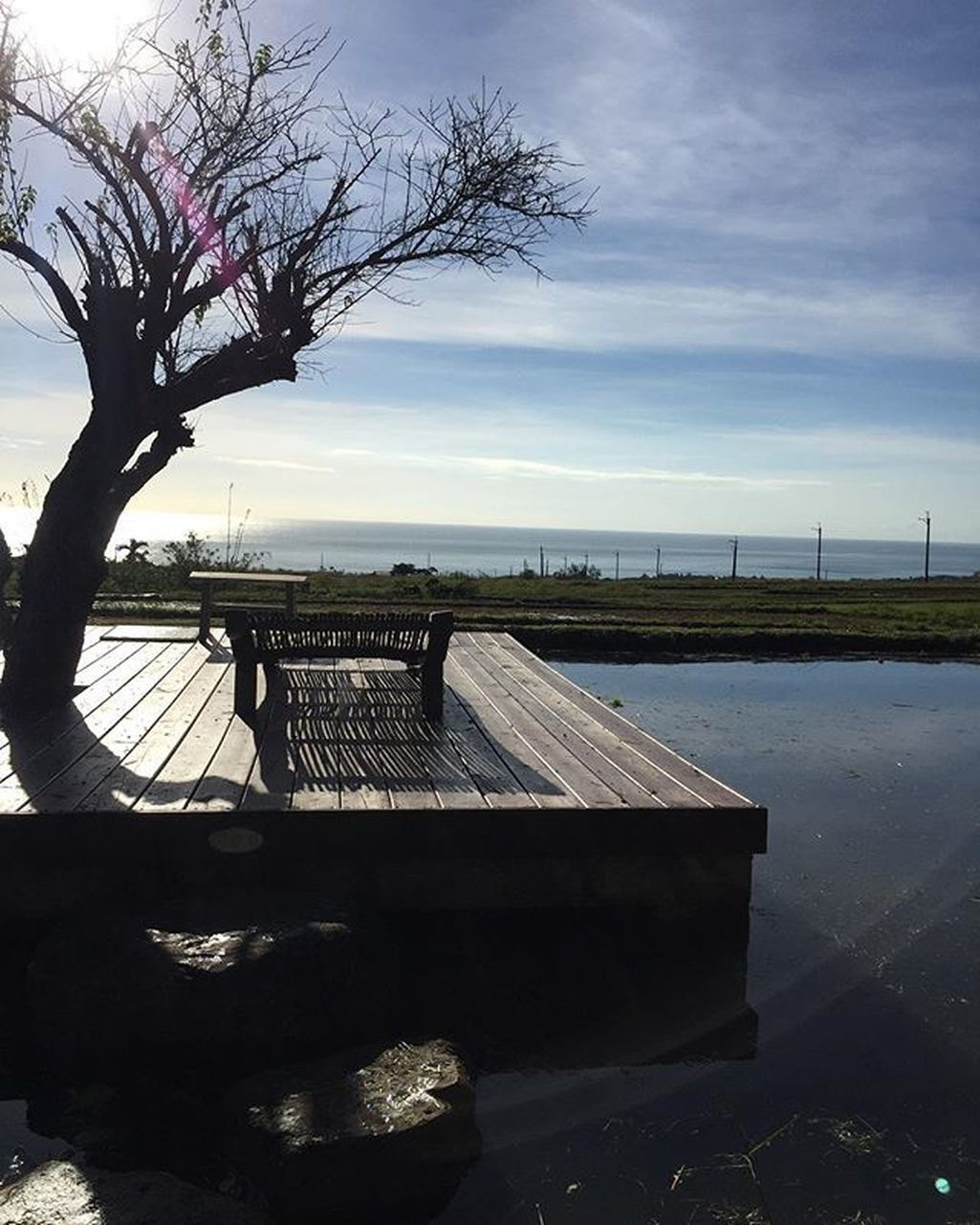 water, tree, no people, nature, beauty in nature, outdoors, sky, scenics, tranquility, day, bare tree