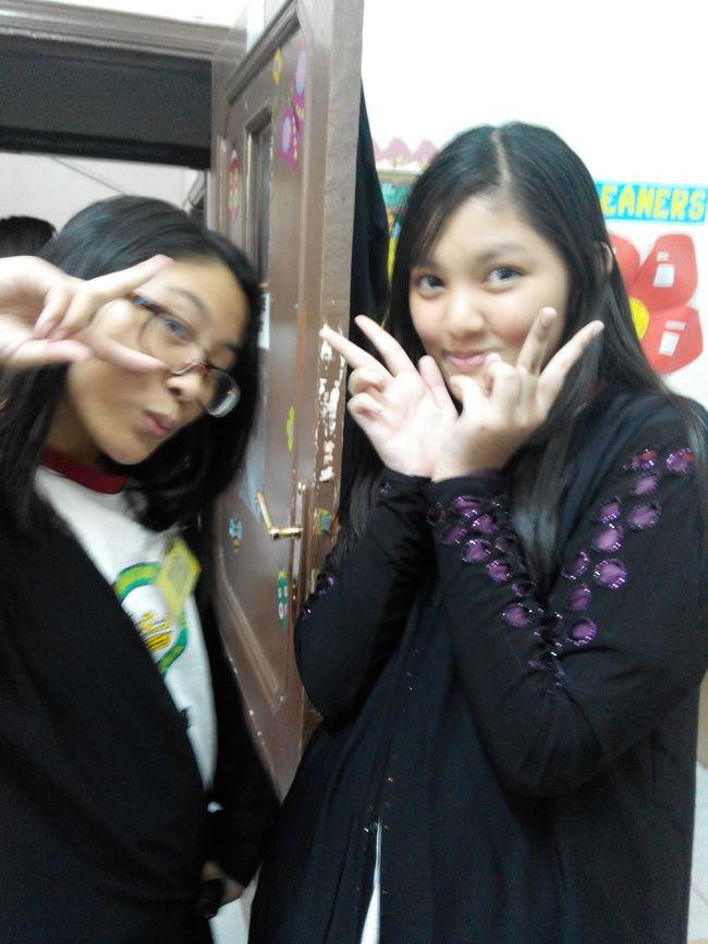 classmates... Christel and Rania ChastityMoments