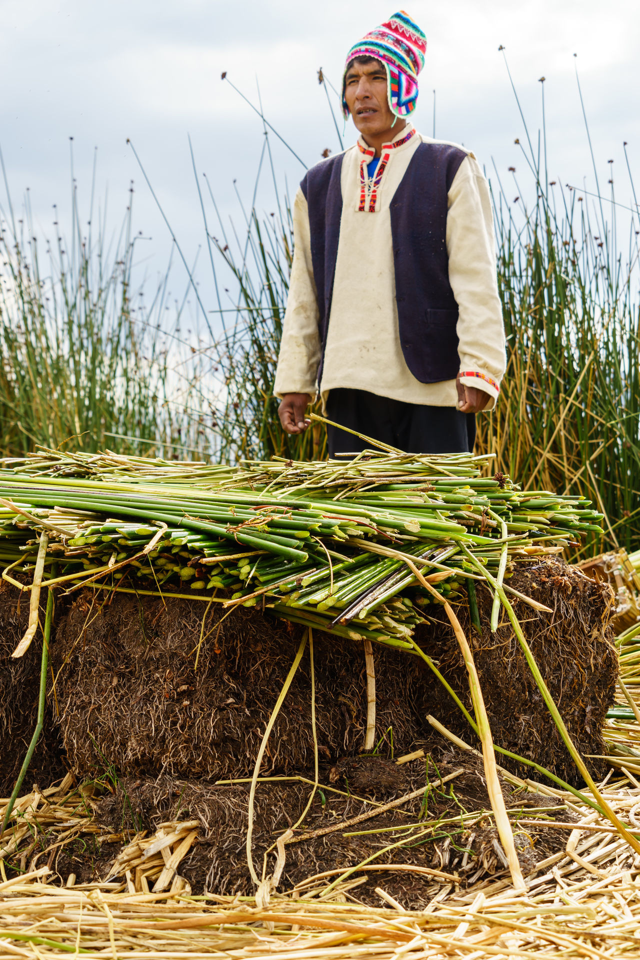 Altitude America Anden Art Children Fisherman Floating Food Island Lake Loca Men People Peru Puno South Titicaca Traditional Traveling Uros Uros Island Village Women