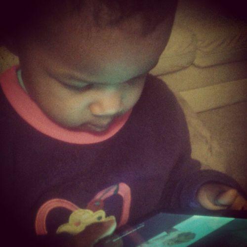 Baby girl LOVES her Bible stories and videos about living as Christ!!! MakesMeProud Jesuslovesme RaiseThemToPraiseHim Mylestone