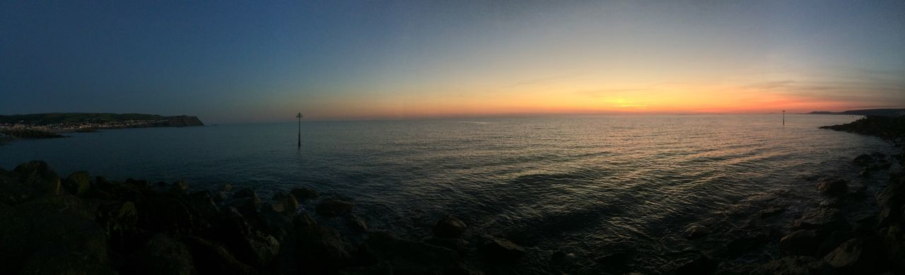 sea, sunset, scenics, beauty in nature, horizon over water, tranquil scene, water, nature, tranquility, outdoors, idyllic, no people, sky, clear sky, day