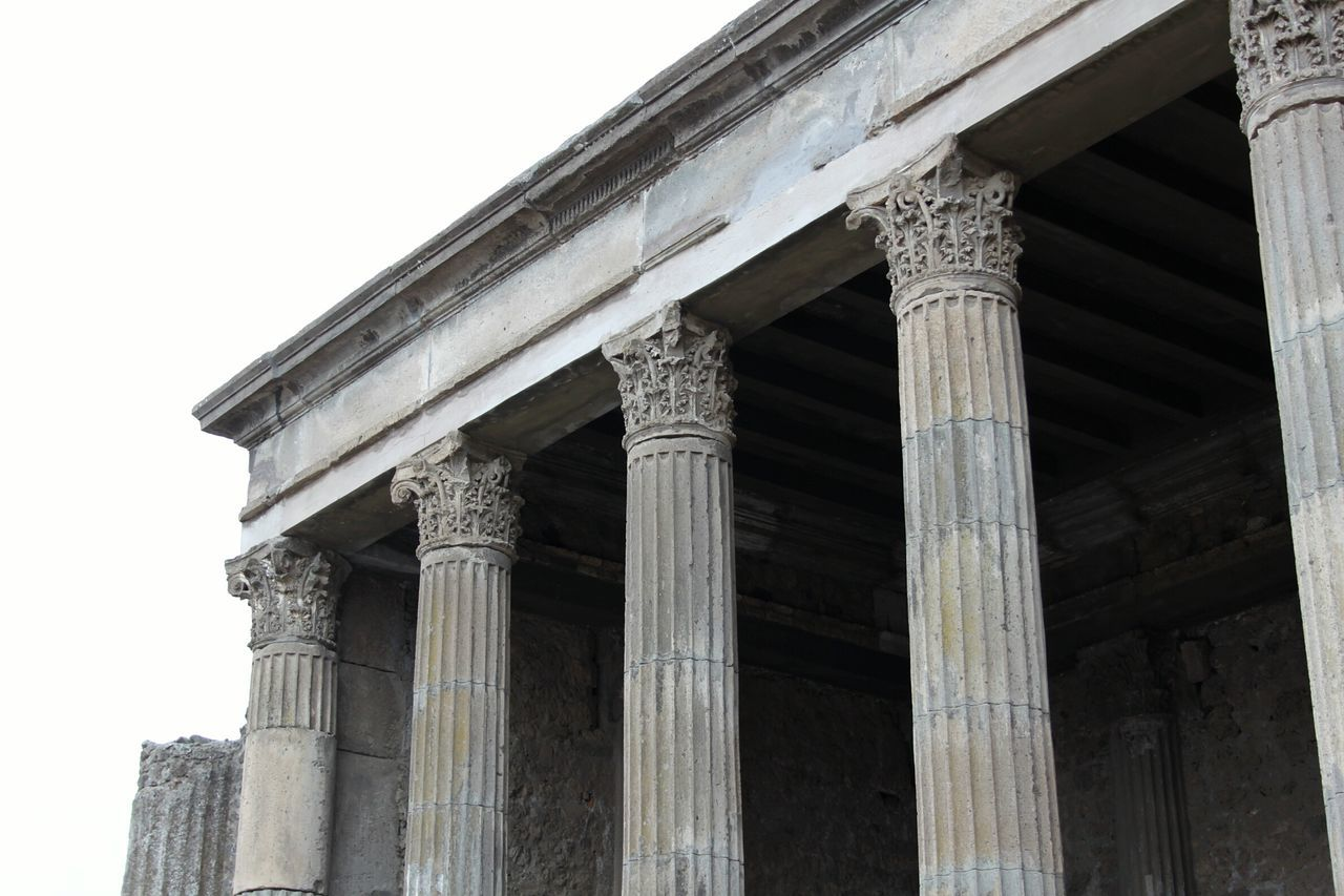 Beautiful stock photos of pompeii, Column, Day, Low Angle View, No People