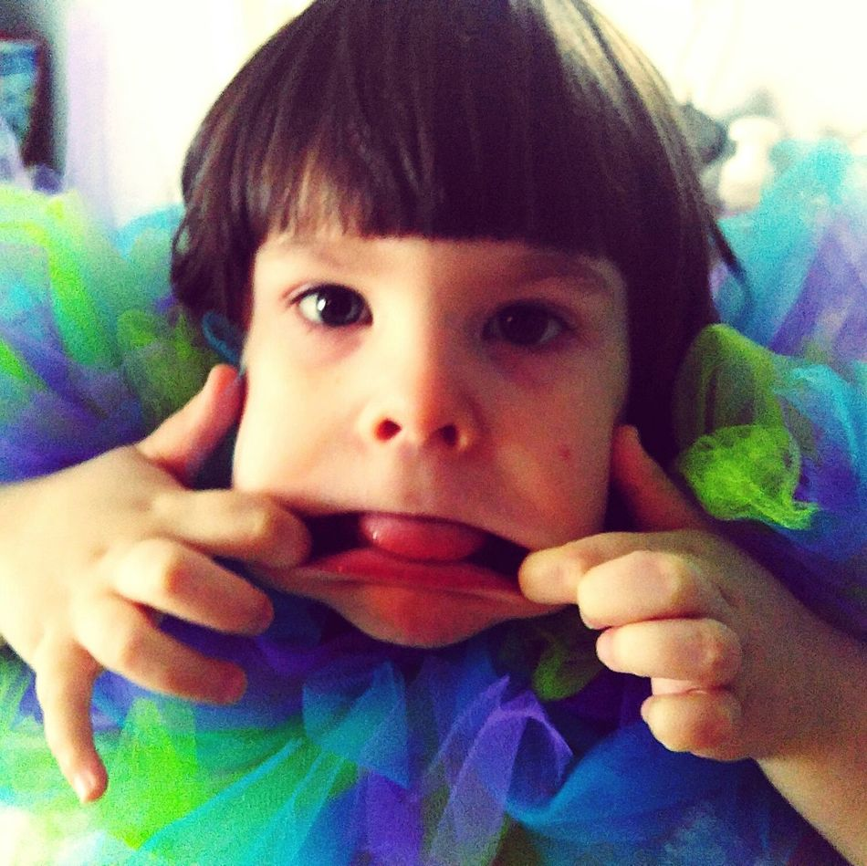 Eye4photography  Kids Having Fun Children My Little Princess Cheese! Funny Faces Funny Face Funny Kid Funny Girl Neon Color Neoncolors