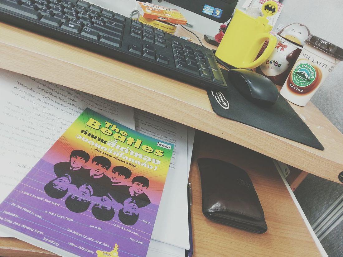 หาข้อมูลเขียนแผน *50บาทจากตลาดแคท 😎😎😎😎😎 Working WorkingHard Thebeatles TheBeatlesStory Office Onmydesk