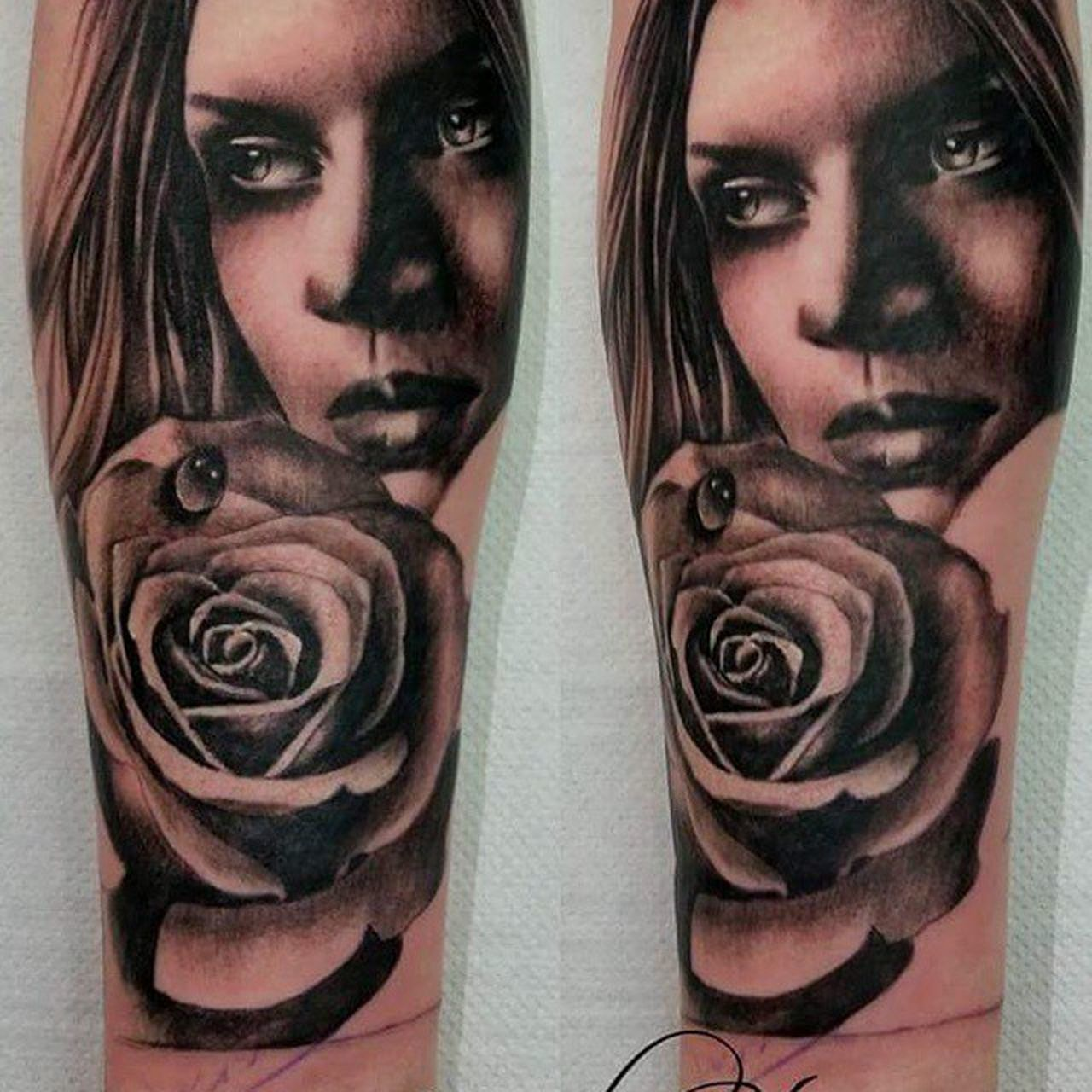 Super sweeeeet piece by karl..... follow us 😊 Tattoo Whiteflame Karlsteventattooist Forearmtattoo Blackandgreyshade Greatjob Nofilter Loveit Femalewithtattoos Femaleportrait Rosé Femanine Soft Tobcontinued Karlstevens