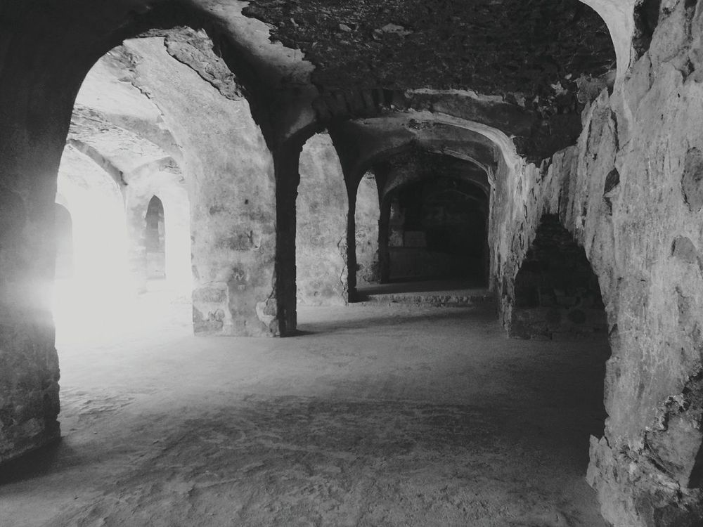Shades Of Grey Black And White Photography Indian_heritage My_click ;-) Fort Hyderabad,ındia Golkonda Fort, Hyderabad Strenght And Beauty