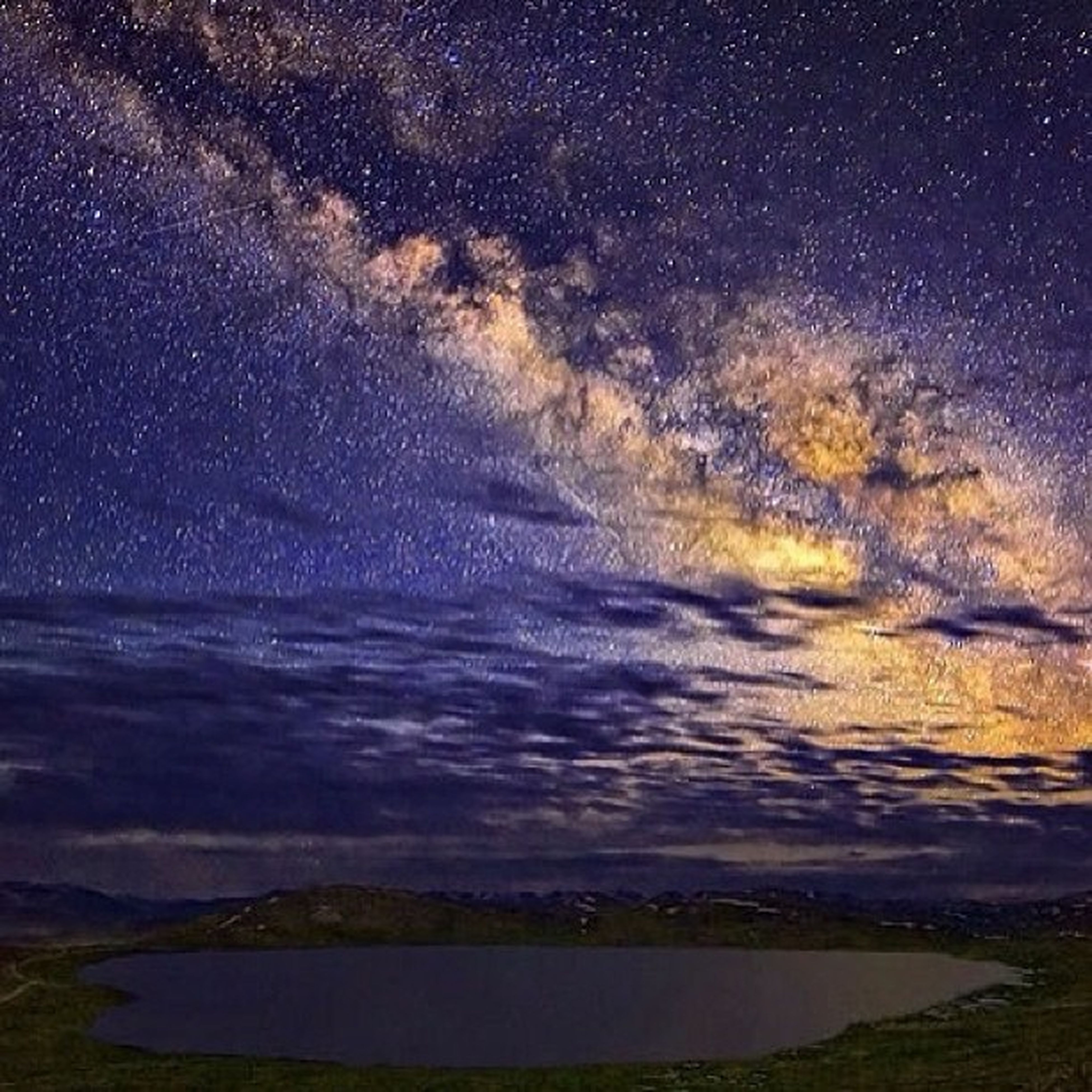 water, scenics, tranquil scene, beauty in nature, sky, tranquility, night, nature, star - space, sea, star field, idyllic, astronomy, weather, cloud - sky, outdoors, dusk, star, dramatic sky, galaxy