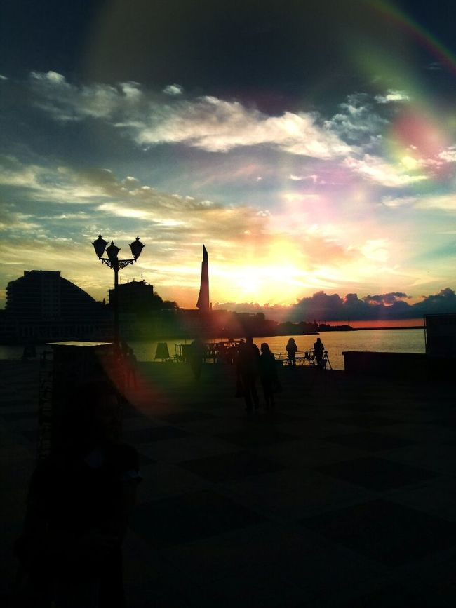 Horizon Sunset Sky Nature Cloudy Cloud Water Sea Theblacksea Russia Sevastopol  Sunset Sky Silhouette Street Light Cloud - Sky Cloud Water Outdoors Person Tourism Lamp Post Nature Vacations Scenics Cloudy First Eyeem Photo