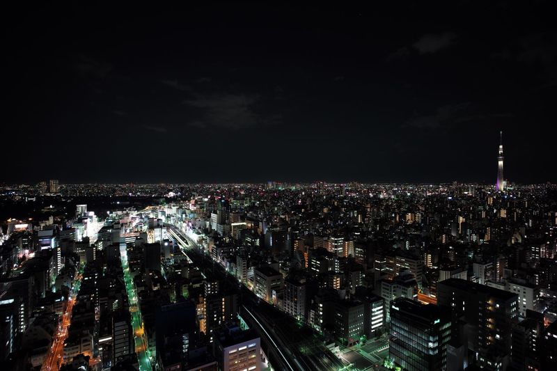 """View from """"The Otaking"""" Akihabara Night Tokyo Penthouse View"""