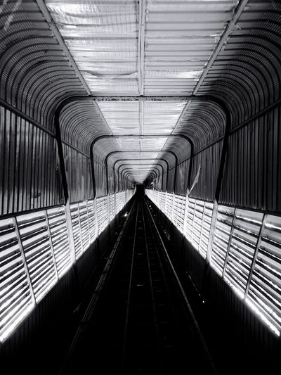 The Way Forward Indoors  Built Structure Transportation Rail Transportation Railroad Track Architecture Tunnel No People Straight Day Technology Illuminated Subway Train Modern Futuristic