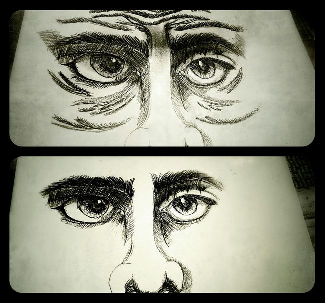 First attempt to draw a face. Extremely hard -_- The Tree Academy Sketch Hand Drawing Art, Drawing, Creativity