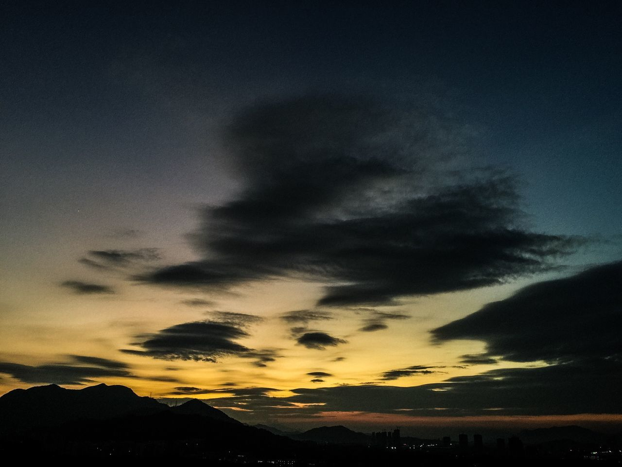 Scenics Silhouette Nature Tranquility Beauty In Nature Sky Mountain Tranquil Scene Sunset Cloud - Sky No People Dragon China Zhuhai Dramatic Sky Outdoors Aurora Polaris Star - Space Astronomy Day