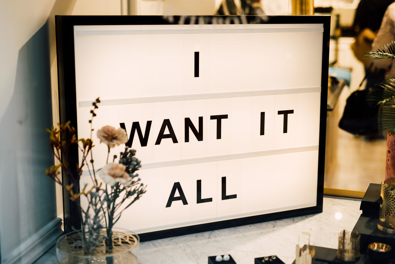 Black Friday Discount I Want It No People Sale Shopping Slogan Statement Text Window