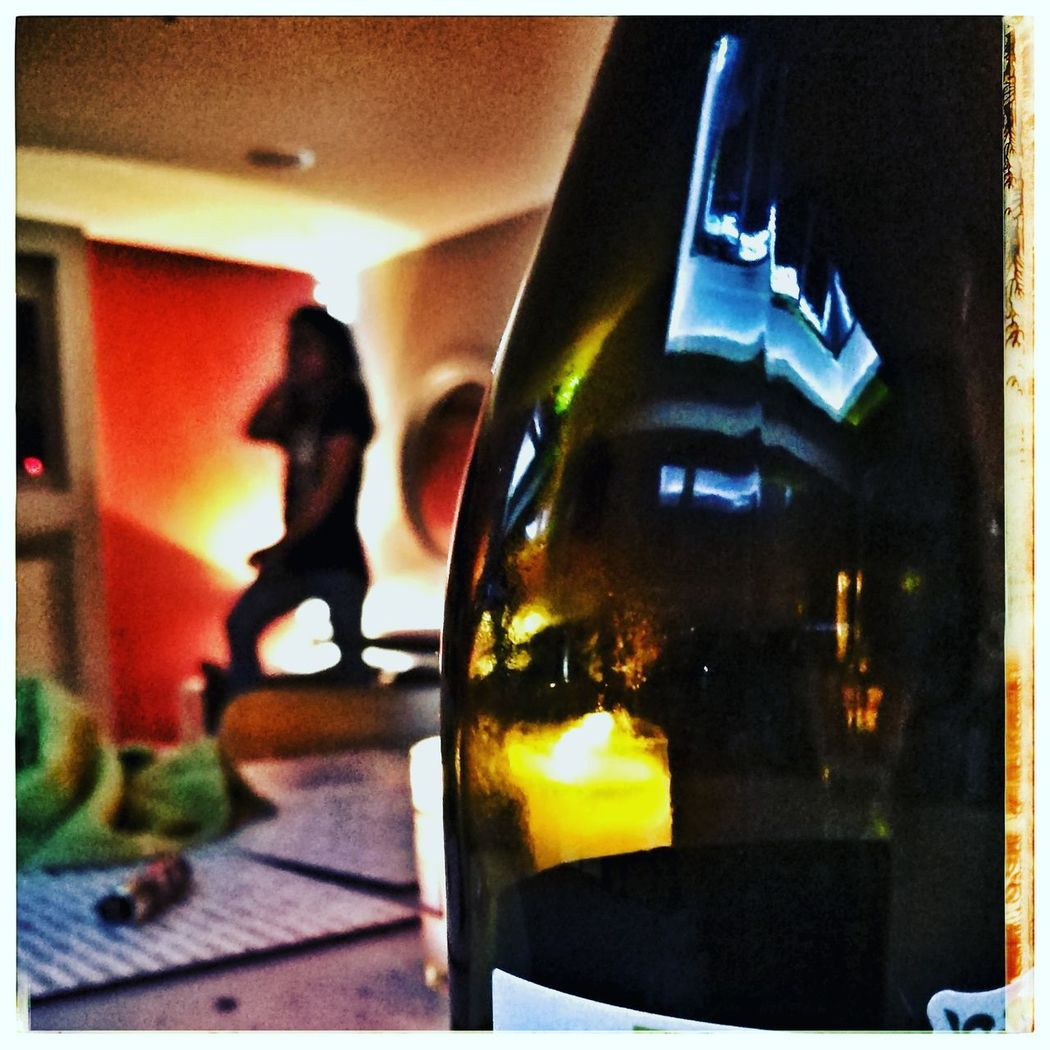 I'm zippin' up my boots Party Wine Illuminated Reflections Mood Lighting  Dancing Disco This Week On Eyeem Bottle Reflection Indoor Lighting Sillouette