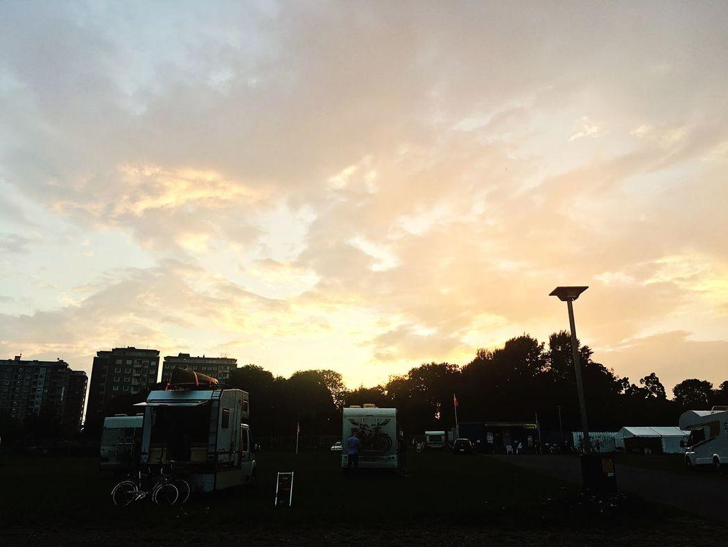 Belahoi Camping Copenhagen Kopenhagen Camping Sky And Clouds Sky Car Clouds Sun Sun Go Down... Enjoying Life Summer Rest First Eyeem Photo