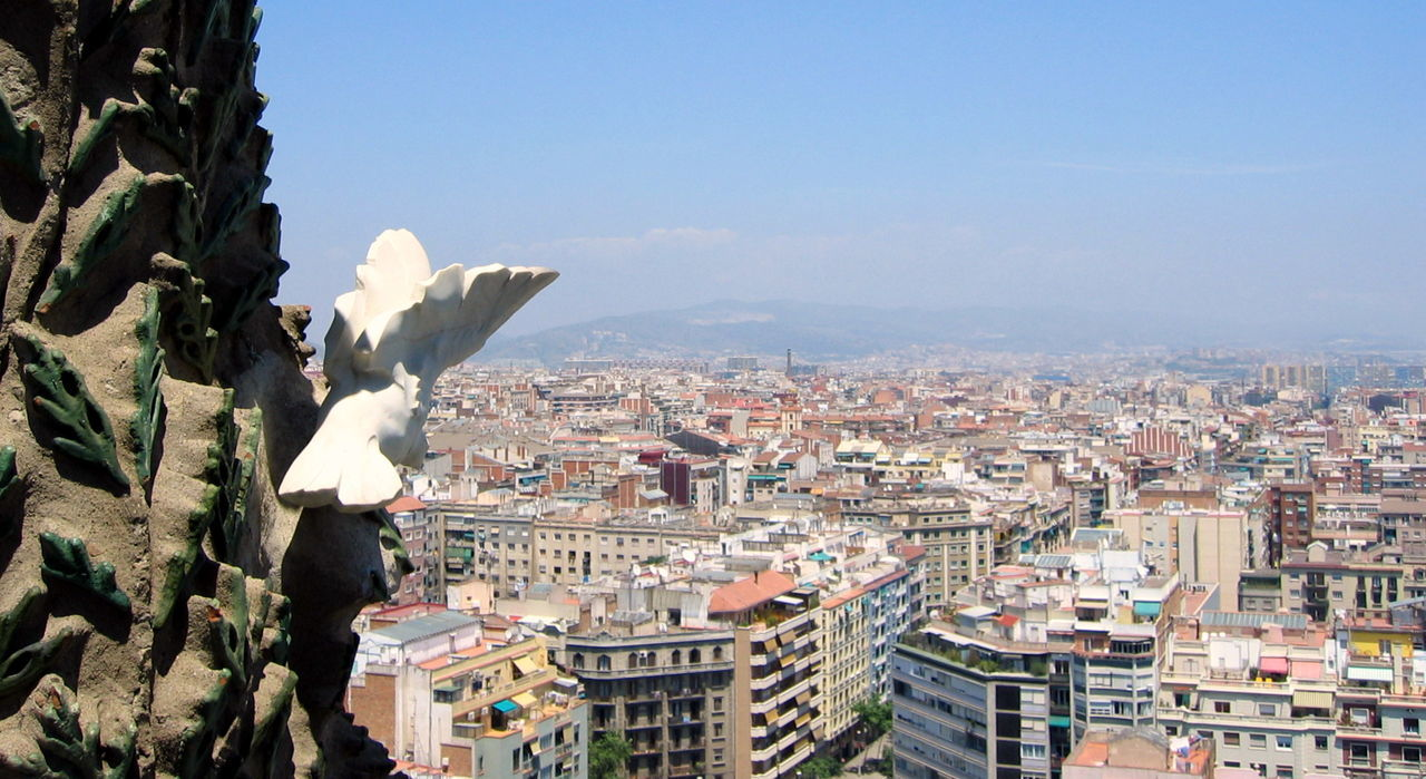Architecture Barcelona Building Exterior Built Structure City Cityscape Day Gargoyle Gaudi No People Outdoors Religion Residential Building Residential District S Sculpture Sky Statue Travel Destinations