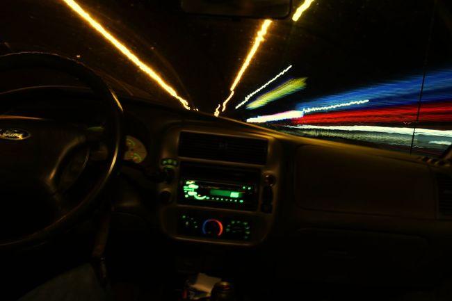 Car Transportation Illuminated Dark Highway Driving Futuristic Speed Night Horizontal No People Indoors  Motorsport