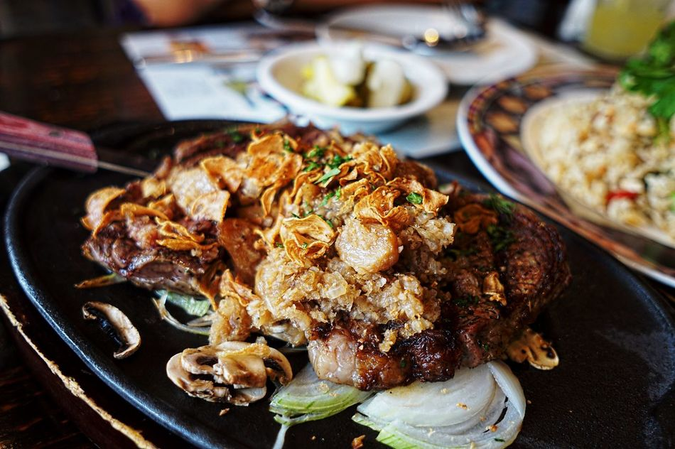 QX1 The Foodie - 2015 EyeEm Awards Food Porn Steaks Galic Steaks