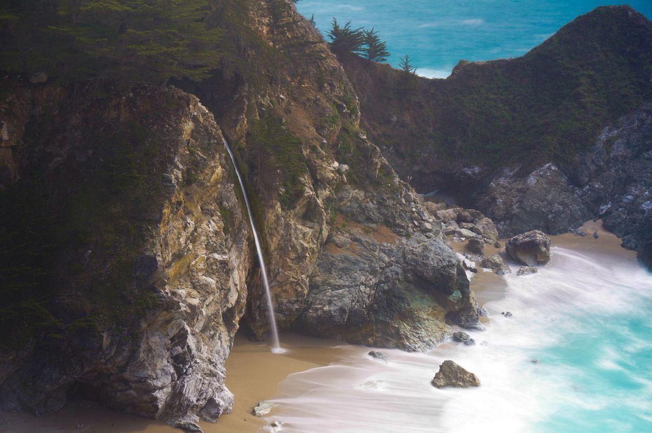 McWay Falls at beach