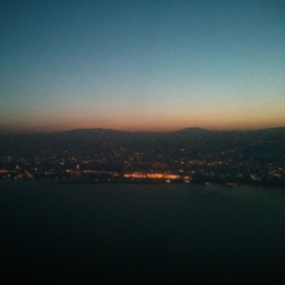 #dbayeh #jounieh #sunrise from the plane Sunrise Jounieh Dbayeh