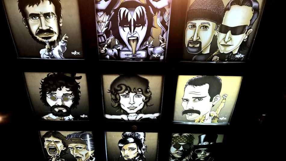 Rockstars Draw Drawing Rock Rock N Roll Rock N' Roll  Restaurant Bar Archival Arrangement No People Close-up Cultures Day Food Osasco