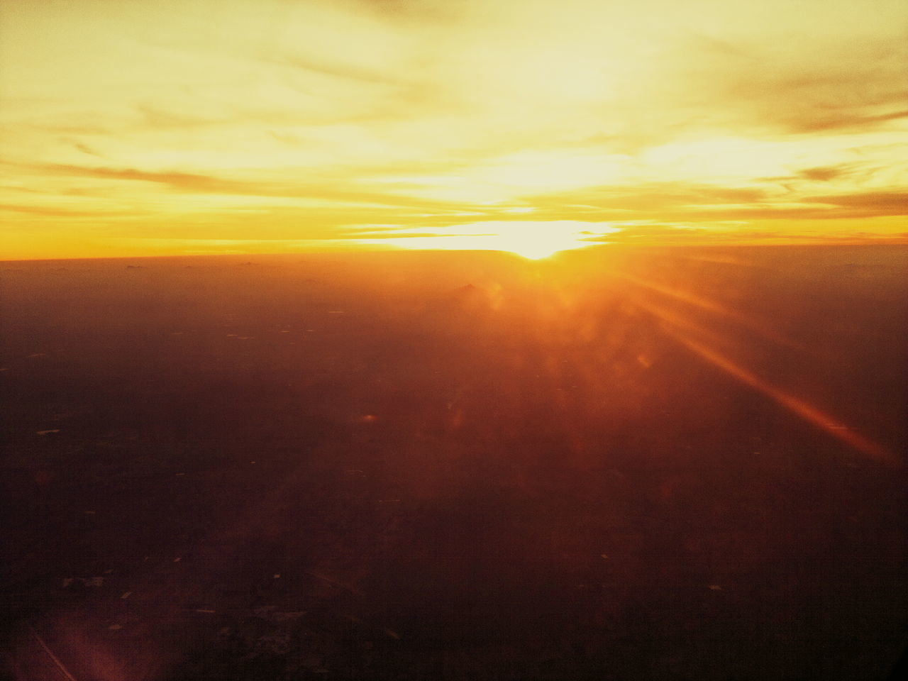 Beauty In Nature From An Airplane Window From My Point Of View From Where I Stand Nature No People Outdoors Scenics Sky Sunrise Sunset Tranquility
