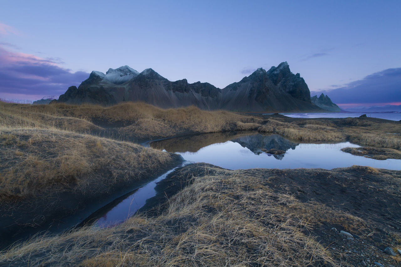 Silent morning in Stokksnes Beauty In Nature Day Iceland Lake Landscape Morning Mountain Mountain Range Nature No People Outdoors Reflection Scenics Sea Sky Stokksnes Tranquil Scene Tranquility Water Waterfront