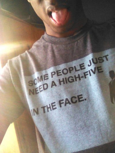 wat my shirt sayz is so tru & that's how i feel today >>>>>>