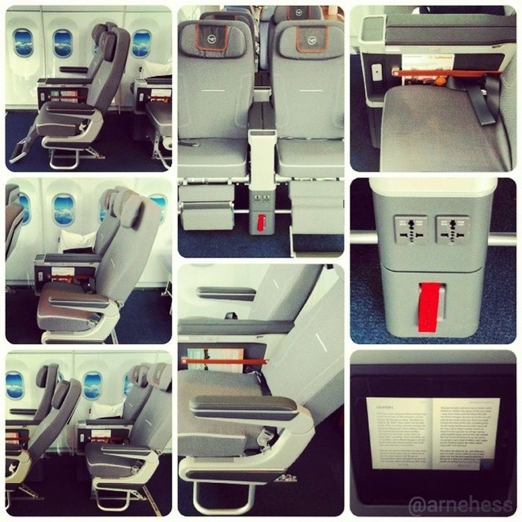 """The new @Lufthansa Premium Economy class as """"tested"""" today in Frankfurt. I like it. Well done! Lufthansa Premiumeconomy Inspiredby Nonstopme"""