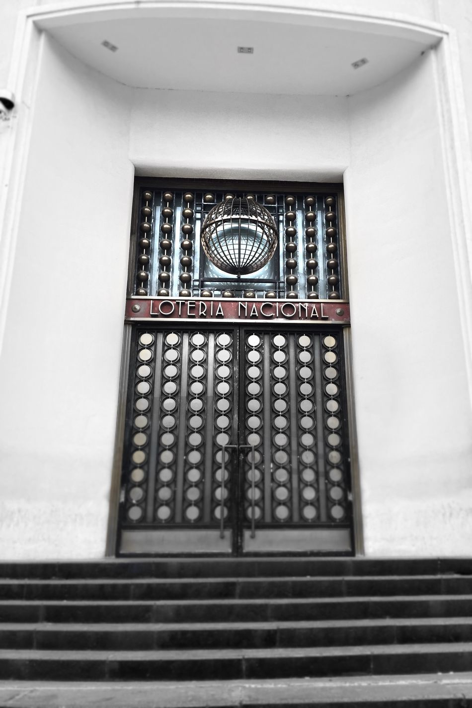 Lotería Nacional Building Door Mexico Walking Around