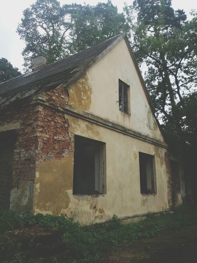 Architecture Architecture Built Structure Building Exterior House Residential Structure Window Tree Old Damaged Obsolete Blue Rural Scene Sky Deterioration Day Outdoors Weathered Exterior No People Discarded