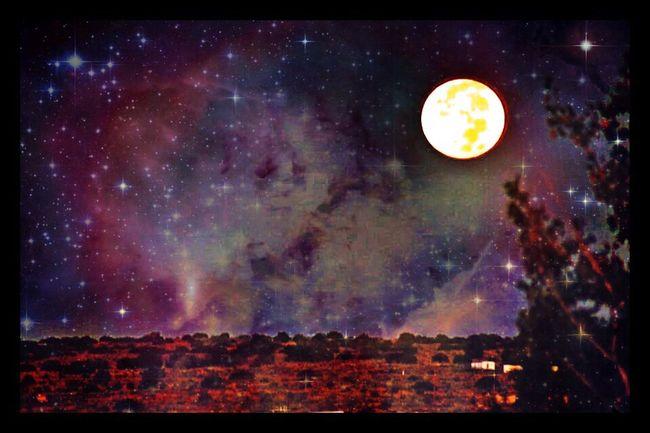 Moonset on the West Mesa Moonset Rio Rancho, New Mexico