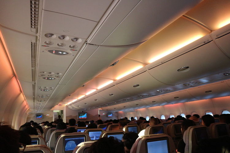 On board Travel Airplane Air Vehicle Large Group Of People Frommypointofview Travel Vacations On Board Airplane Seat Nofilter A 380