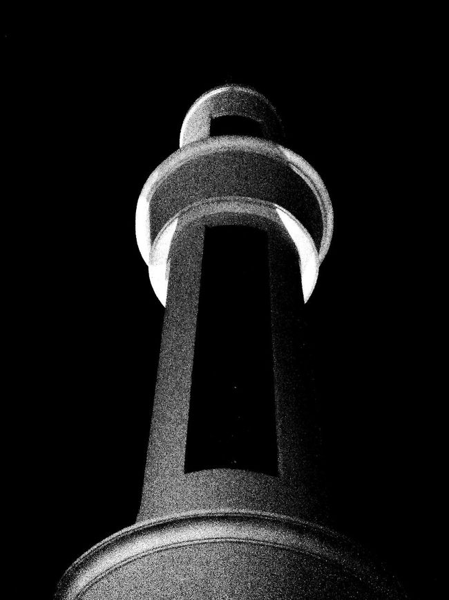 Minaret of Al Fattah Jatinegara Jakarta Bnw Lowlight Tower Of Mosque Rooftop View  Place Of Worship Religion Spirituality