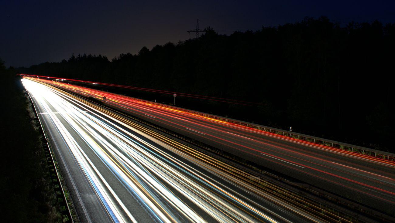 Eye4photography  Long Exposure Nightphotography Highway Autobahn Langzeitbelichtung Nachtfotografie Light And Shadow Cars Traffic