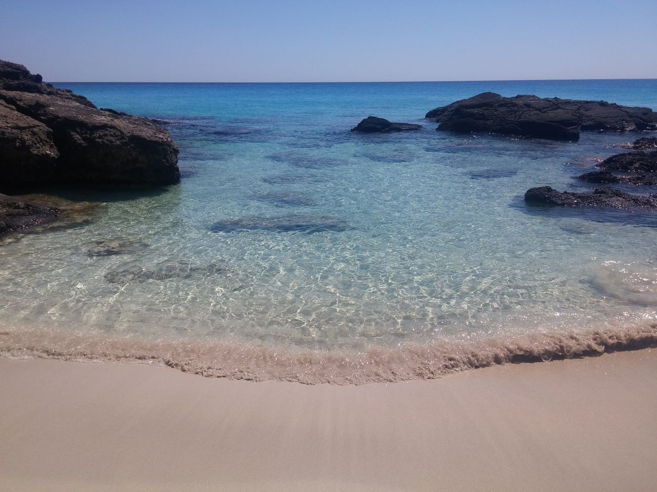 Sea Beach Horizon Over Water Beauty In Nature Nature Crete Kedrodasos Water Crystal Clear Waters Panorama Wide Angle