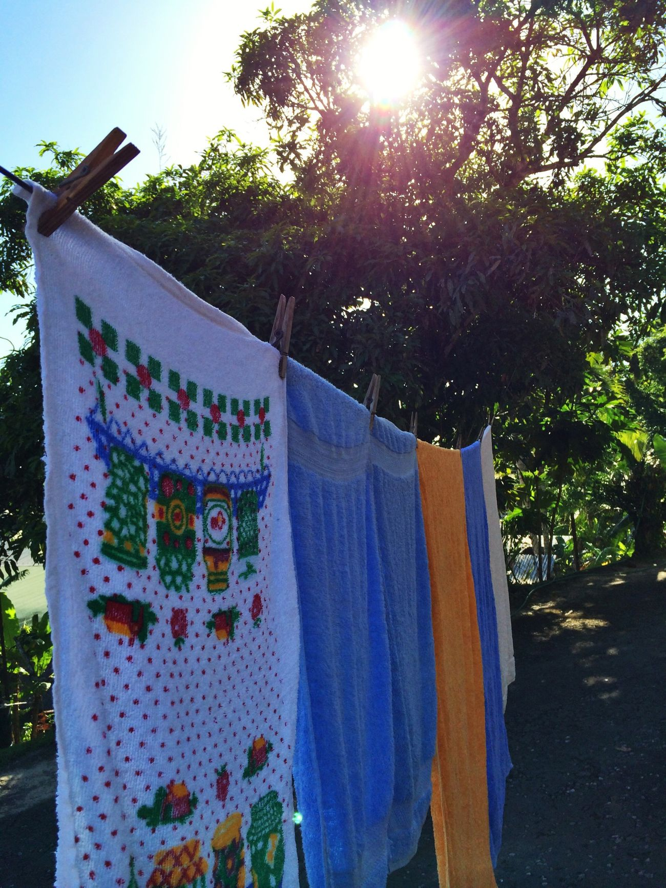Laundry day on August 5, 2014 in Trinidad. #LifeInAVillage