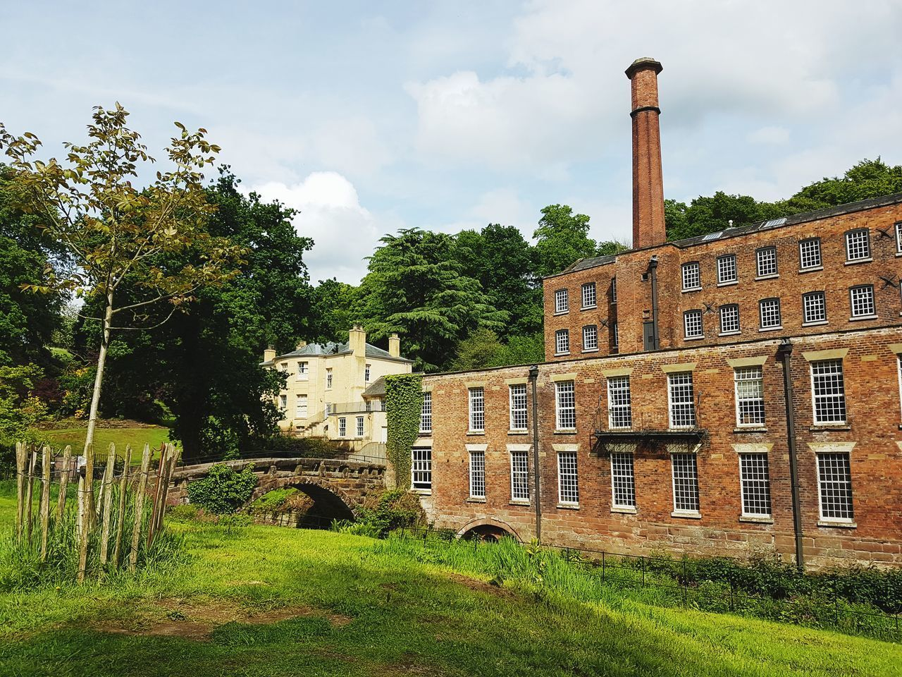 Architecture Built Structure Building Exterior Cloud - Sky Outdoors No People Grass Quarry Bank Mill History And Culture History And Industry Cotton Mill Springtime A Walk In The Garden... Without Hiding Anything... Without Filter... Lifestyles